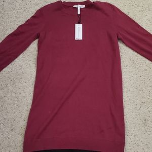 BCBG maroon sweater dress. NWT,  M.